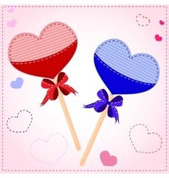 lollipop valentines card vector image