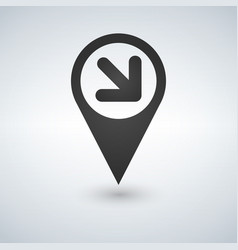 map pointer with an arrow icon vector image