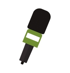 Microphone wireless with green support vector