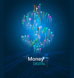 money digital concept vector image