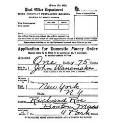 Money order vintage vector