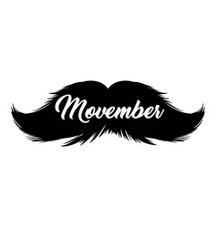 Moustaches movember clipart black isolated vector