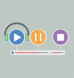 Music player 21 vector
