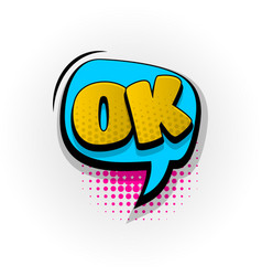 ok good fine yes comic book text pop art vector image