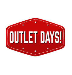 outlet days label or sticker vector image
