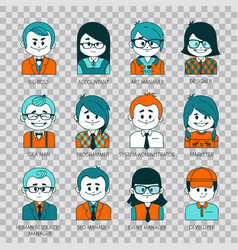 people icons people avatars for social networks vector image