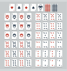 playing cards flat style vector image