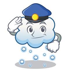 Police snow cloud character cartoon vector