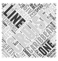 Princess cruise line Word Cloud Concept vector