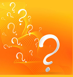 Question sign drawing on yellow-orange background vector