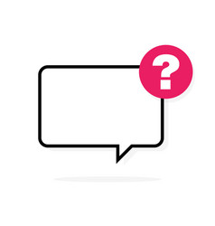 questions sign chat shape speech bubble vector image
