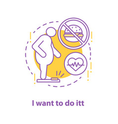 Readiness to lose weight concept icon vector