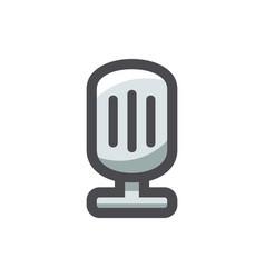 retro vintage microphone icon cartoon vector image