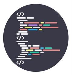 Round icon program code structure html vector