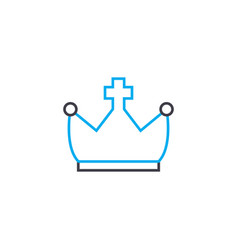 royal crown linear icon concept royal crown line vector image