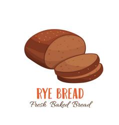 Rye bread icon vector