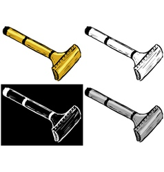 Safety razor vector image
