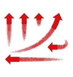Set of red arrows like rockets vector