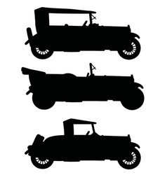 Silhouettes of vintage cabriolets vector image
