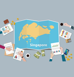 singapore country growth nation team discuss with vector image