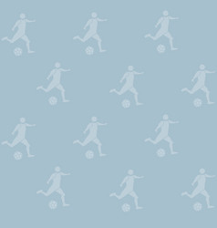 soccer sport backdrop pattern seamless on blue vector image