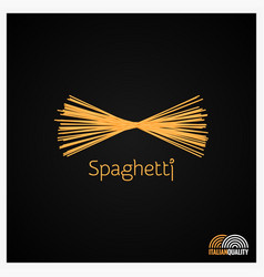 Spaghetti pasta logo design background vector
