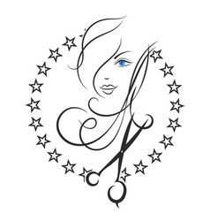 Symbol of beauty and hair salon vector
