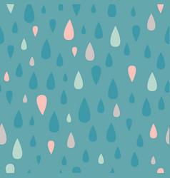 Teal teardrop raindrop seamless pattern vector