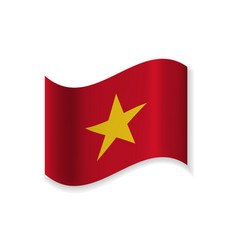 The official flag of vietnam vector