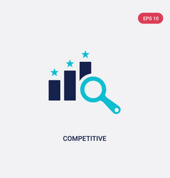 Two color competitive icon from ethics concept vector