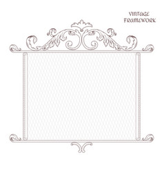 vintage antique decorative frame is made in vector image
