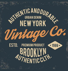 Vintage typography for t shirt print new york vector