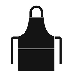 Work apron icon simple style vector
