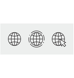 Www internet connection icons vector