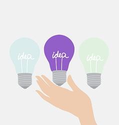 Choosing the creative idea vector image