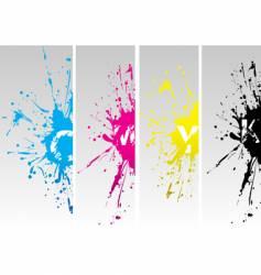 CMYK splat vector image vector image