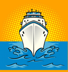cruise ship pop art style vector image