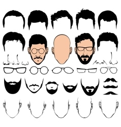 Design constructor with man head silhouette vector image vector image