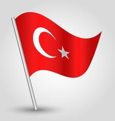 flag turkey vector image