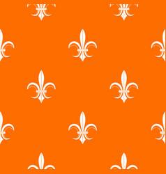 lily heraldic emblem pattern seamless vector image vector image
