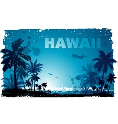 tropical hawaiian background vector image vector image