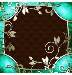 vintage frame in dark green vector image