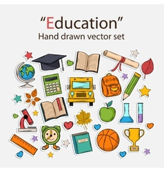 Education hand drawn set vector image vector image
