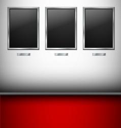 Empty Pictures in gallery vector image vector image