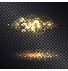 golden light effect isolated on black ttransparent vector image