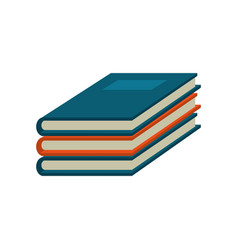 notebook study educational icon vector image vector image