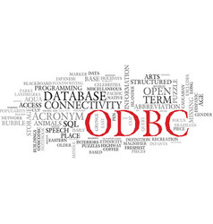 odbc word cloud concept vector image