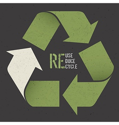 reuse poster textured paper vector image vector image