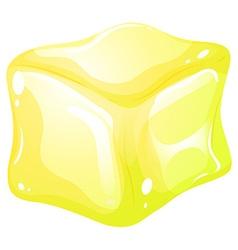 Yellow ice cube vector