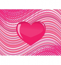 abstract heart background vector image